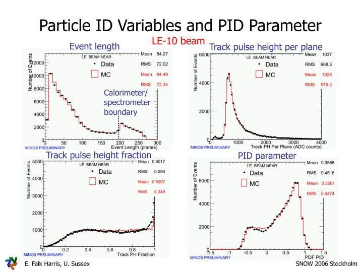 Particle ID Variables and PID Parameter