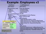 example employees v3
