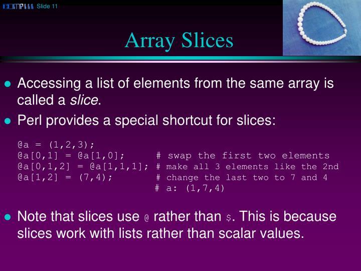Array Slices