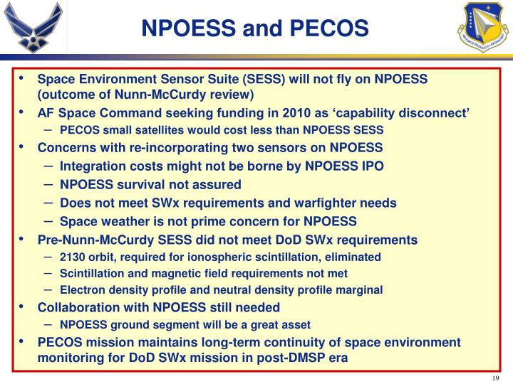 NPOESS and PECOS