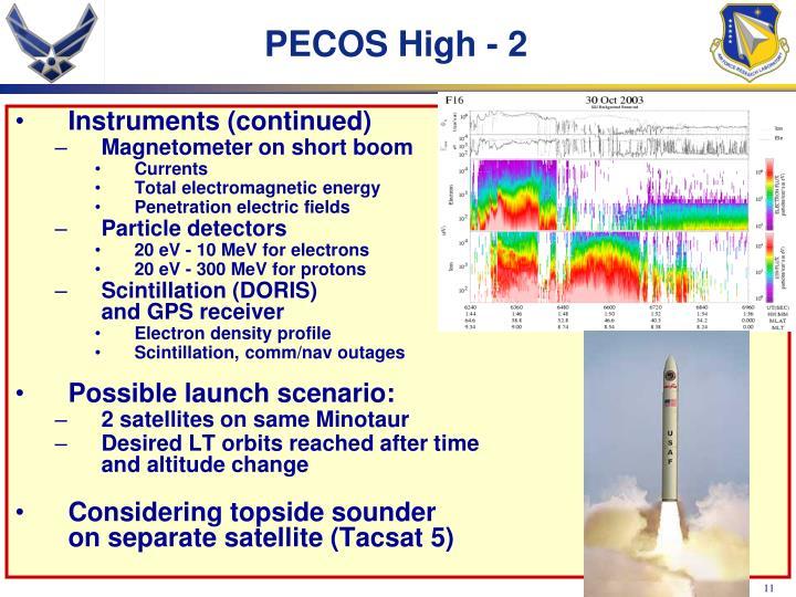 PECOS High - 2