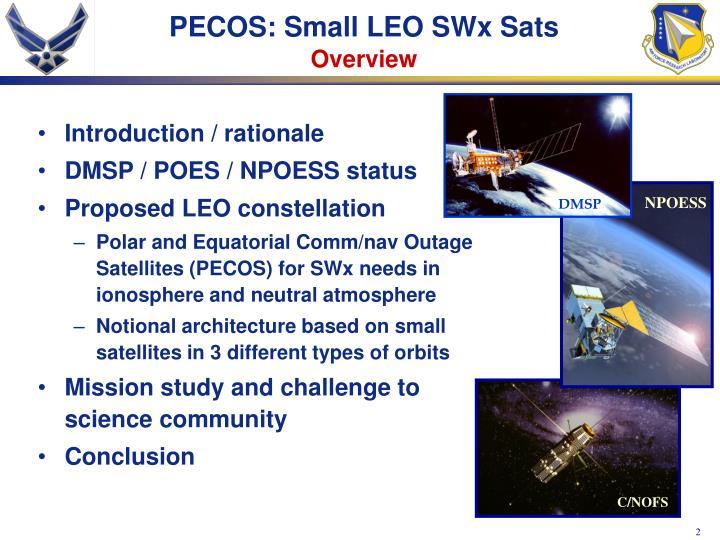 PECOS: Small LEO SWx Sats