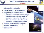 pecos small leo swx sats overview