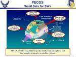 pecos small sats for swx