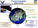 present capability dmsp orbits