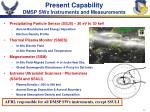 present capability dmsp swx instruments and measurements