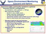 space environment monitoring concerns and options
