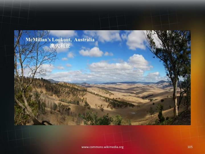 McMillan's Lookout,  Australia