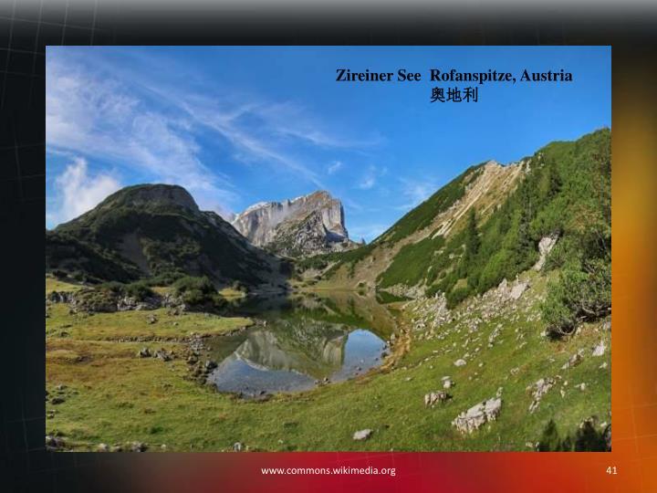Zireiner See  Rofanspitze, Austria