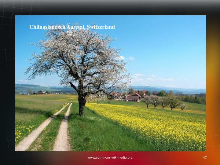 Chlingslandsch Aaretal, Switzerland