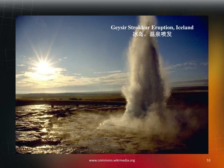 Geysir Strokkur Eruption, Iceland