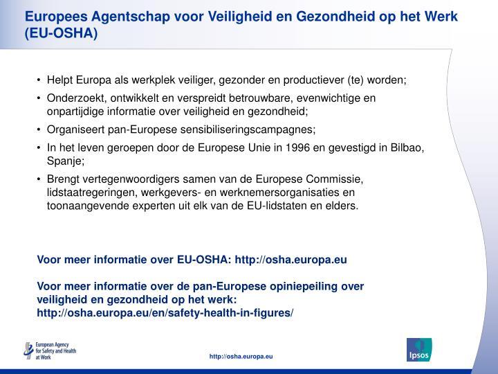 Europees Agentschap voor Veiligheid en Gezondheid op het Werk (EU-OSHA)