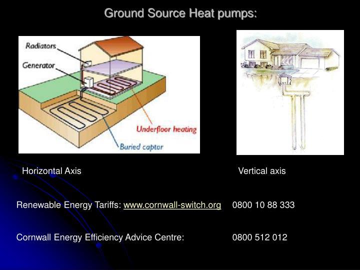 Ground Source Heat pumps: