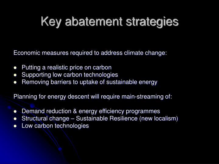 Key abatement strategies