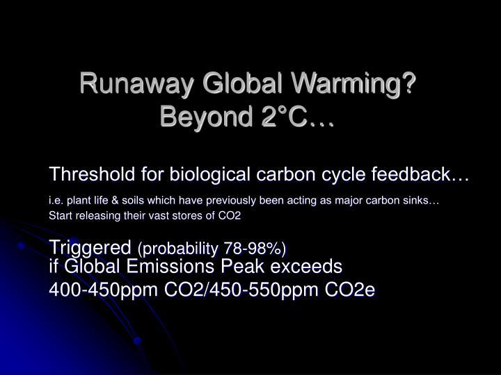 Runaway Global Warming?