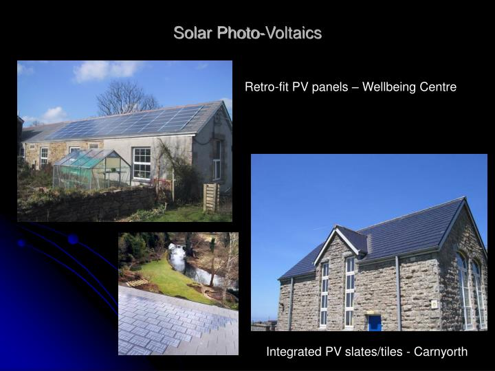Solar Photo-Voltaics