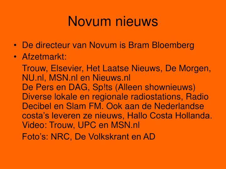 Novum nieuws