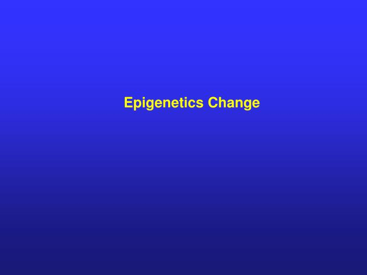Epigenetics Change