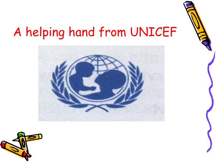 A helping hand from UNICEF