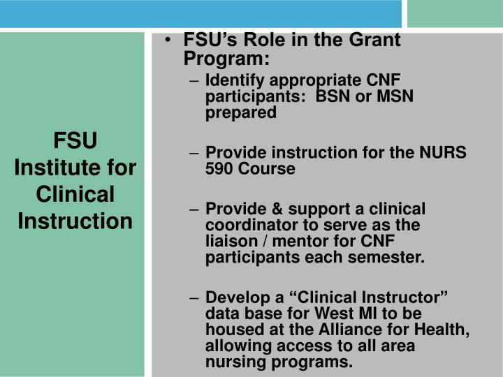 FSU Institute for Clinical Instruction