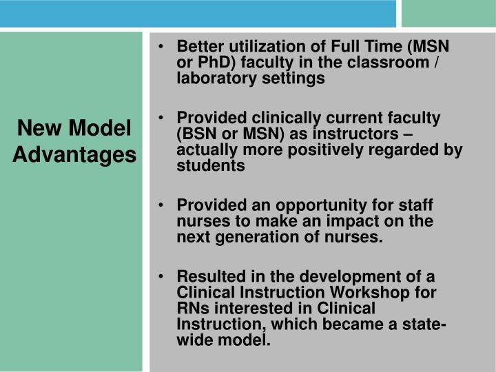 New Model Advantages