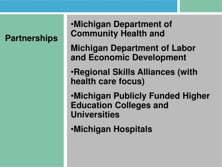 Michigan Department of Community Health and