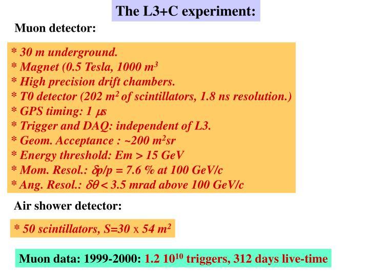 The L3+C experiment: