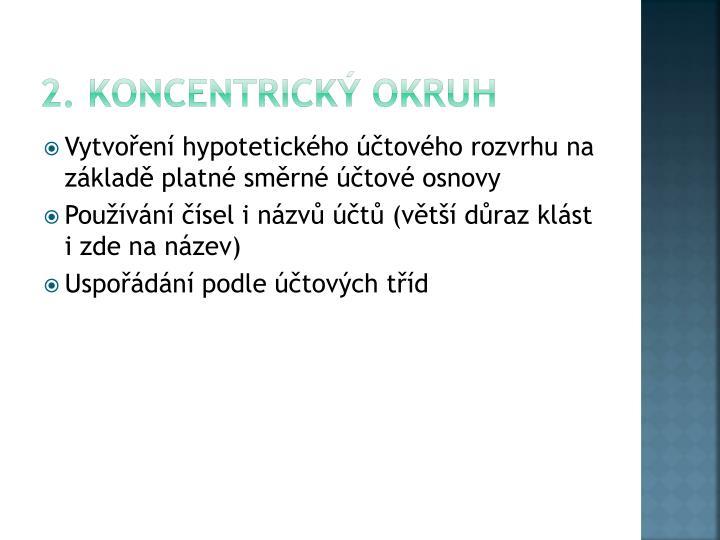 2. Koncentrický okruh
