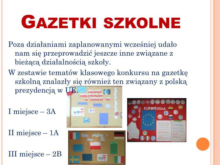 Gazetki szkolne