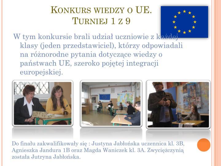 Konkurs wiedzy o UE.