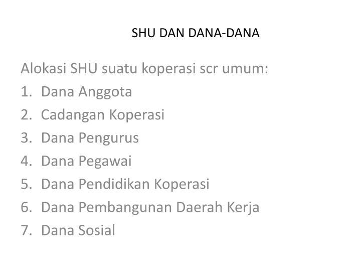 SHU DAN DANA-DANA