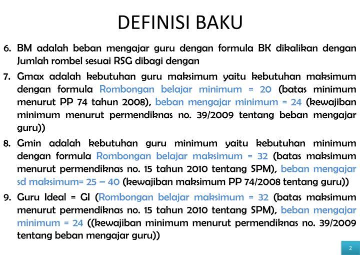 DEFINISI BAKU