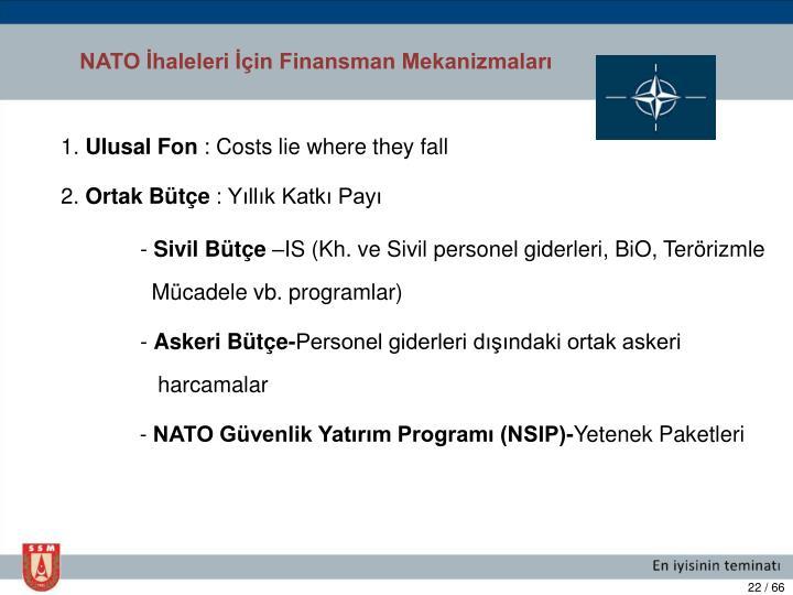NATO İhaleleri İçin Finansman Mekanizmaları