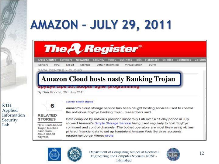 Amazon – July 29, 2011