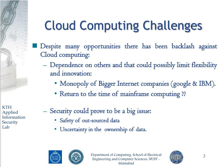 Cloud computing challenges