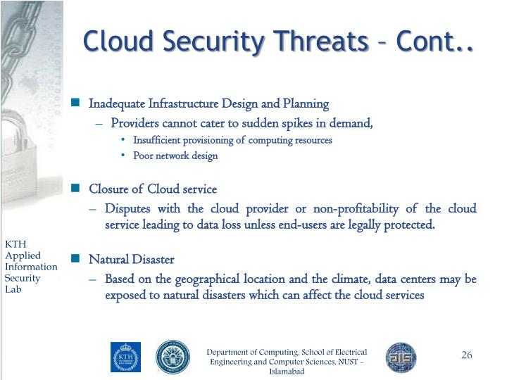 Cloud Security Threats – Cont..