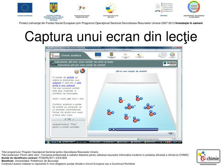 Captura unui ecran din lec