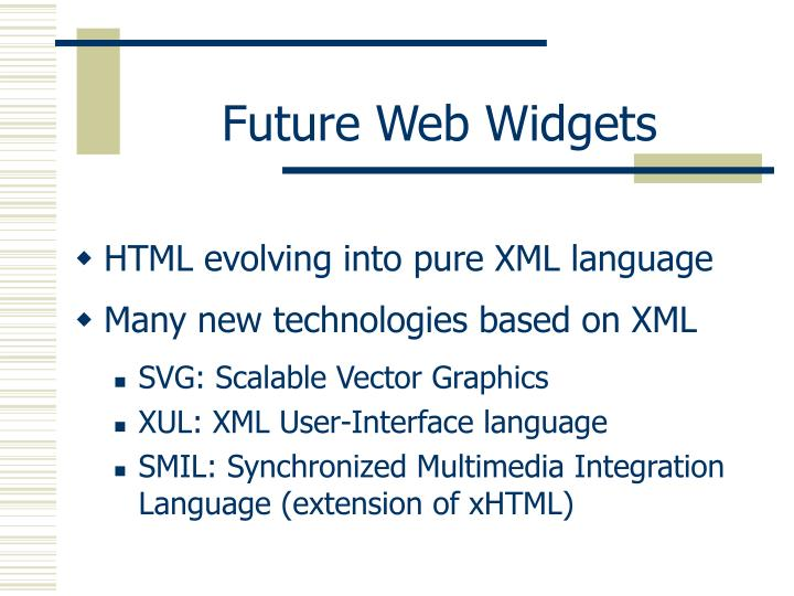 Future Web Widgets