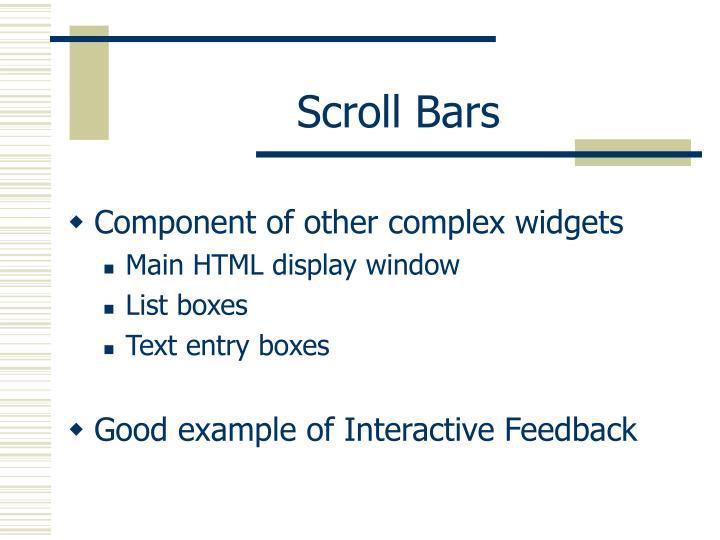 Scroll Bars