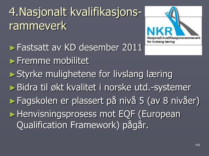 4.Nasjonalt kvalifikasjons-
