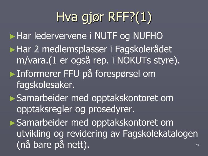 Hva gjør RFF?(1)