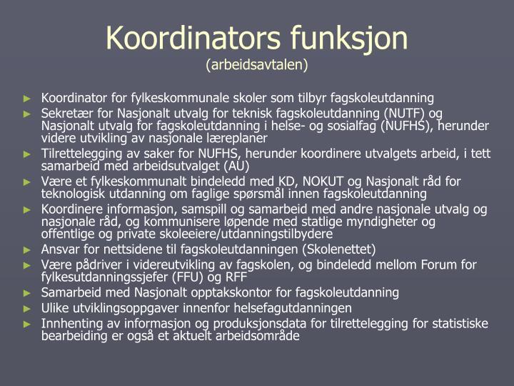 Koordinators funksjon