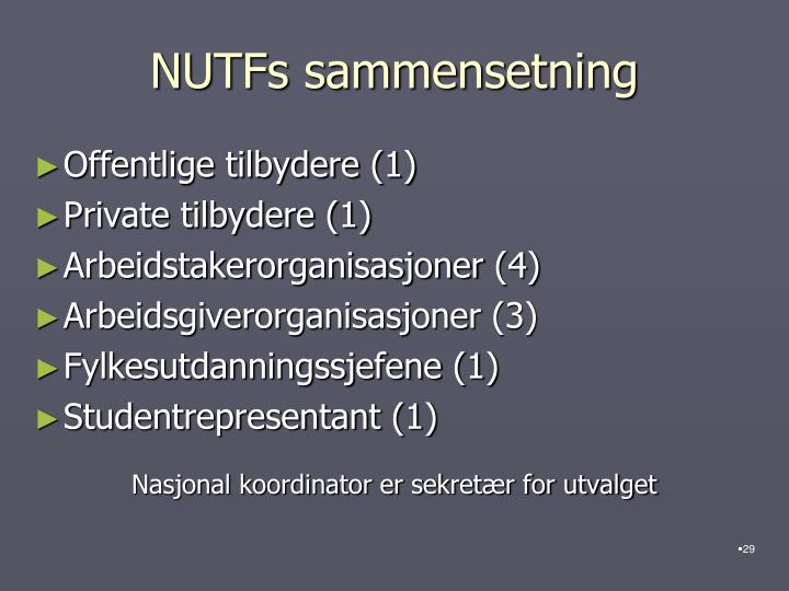 NUTFs