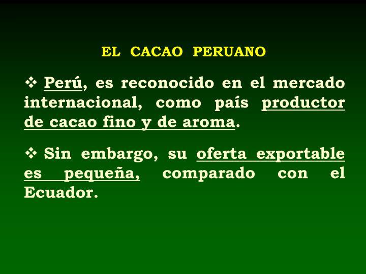 EL  CACAO  PERUANO