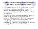 il dibattito sulle caratteristiche del sistema industriale italiano il ruolo dei di2