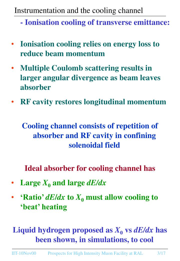 Instrumentation and the cooling channel