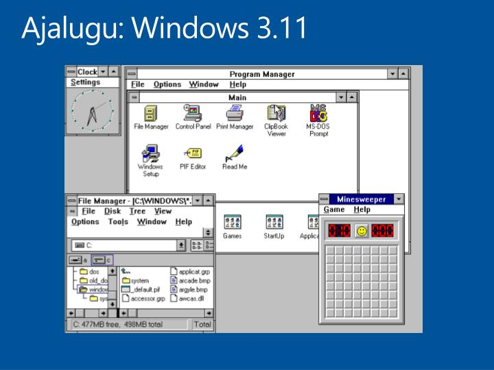 Ajalugu: Windows 3.11