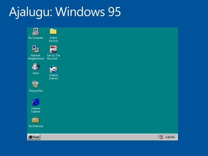Ajalugu: Windows 95