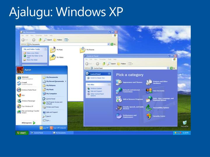 Ajalugu: Windows XP