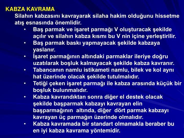 KABZA KAVRAMA